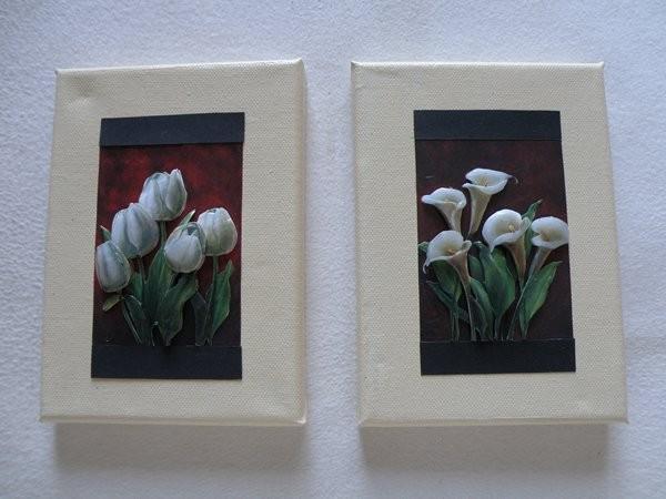 Des tableaux 3d - Tableau triptyque fleurs blanches ...